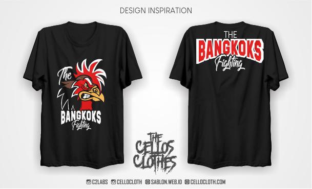 Desain Kaos Komunitas Penggemar Ayam Petarung - Kaos Ayam Aduan
