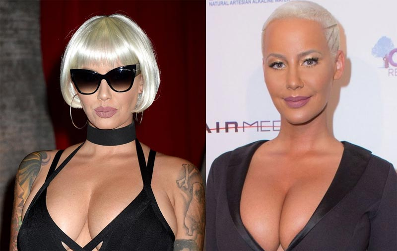 Amber Rose rocks blonde wig....Amber is that really you?