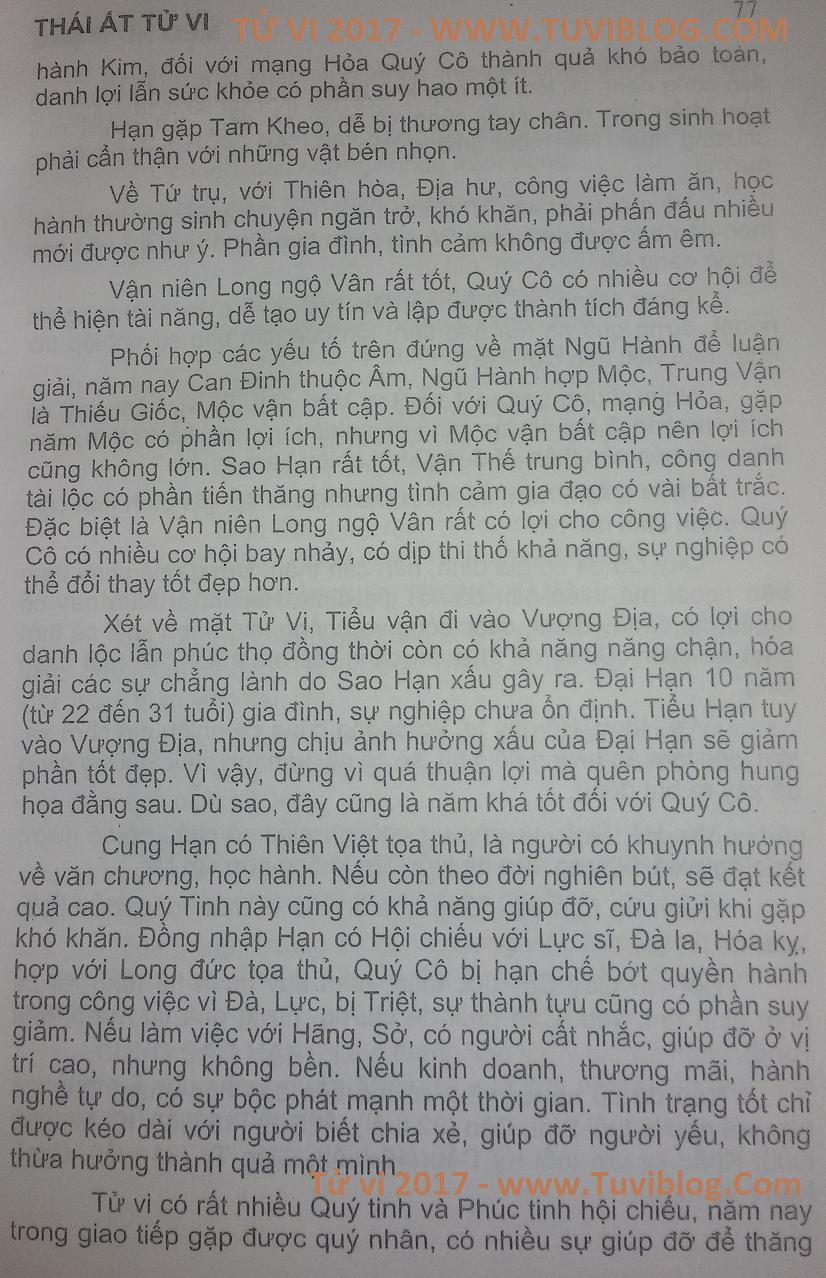 Dinh Mao 1987 nu mang 2017