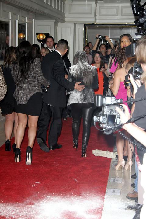 Kim Kardashian Flour Bomb Angelina Jolie