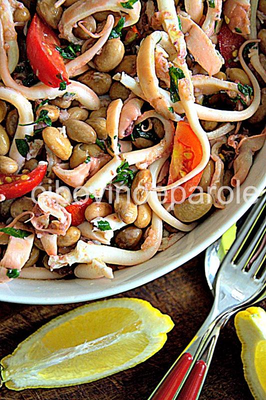 insalata legumi e pesce