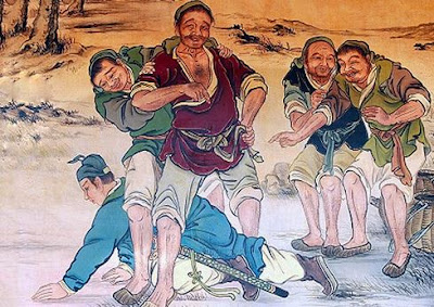 young han xin crawling benath a hooligan
