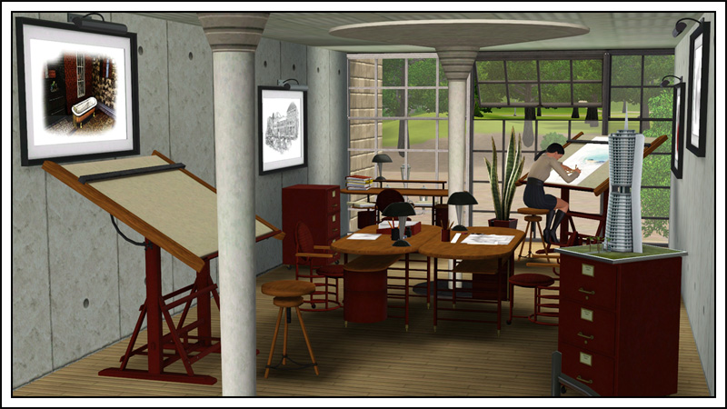 My Sims 3 Blog Architect Office By Sandy