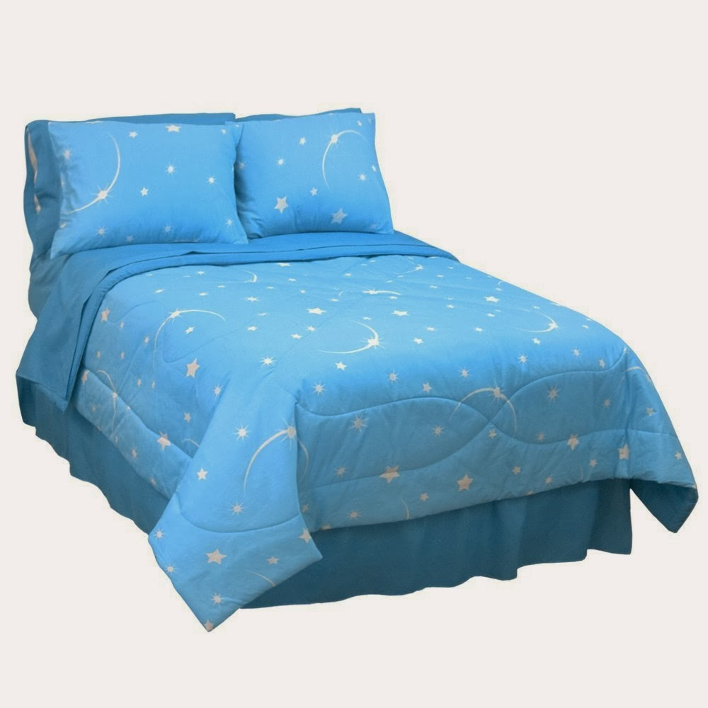Veratex Stellar Moon and Star Glow in the Dark Comforter Set