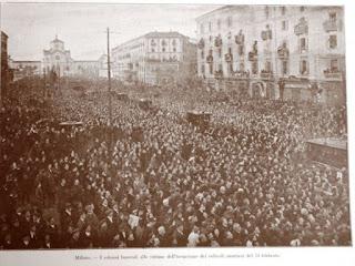 milano funerali bombe vittime 1916 austrungarico milano bombardamento prima guerra WWI