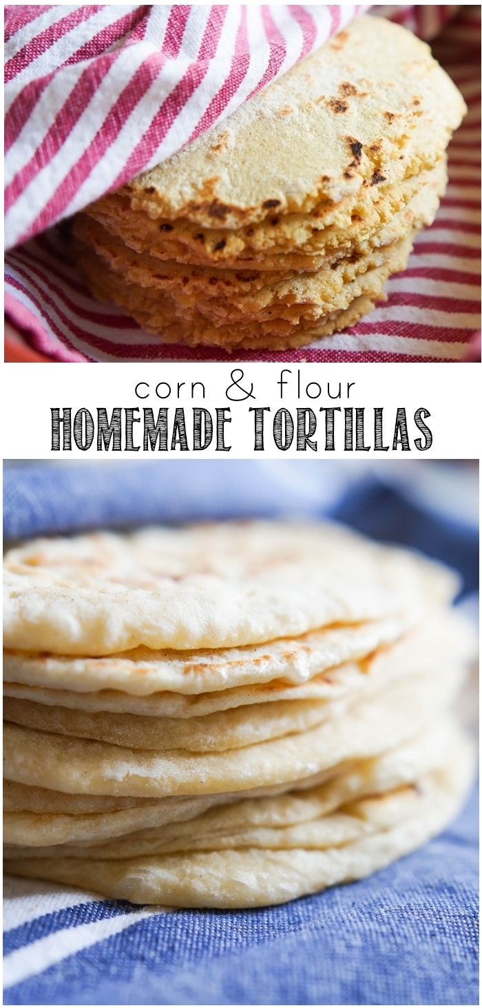 how to make homemade corn and flour tortillas | bakeat350.net for The Pioneer Woman Food & Friends
