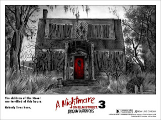 Jason Edmiston nightmare on elm street 3 poster mondo