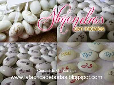 Venta de finos dulces almendras blancas personalizadas para  eventos bodas y 15 en guatemala opcion para chocolates mym personalizados de la fabrica de Bodas