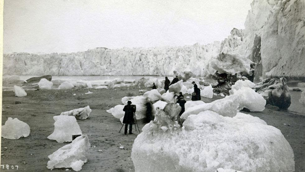 Muir Glacier and Inlet (1880s- 1890s) - Photos of Alaska Then And Now. This is A Get Ready to Be Shocked When You See What it Looks Like Now.