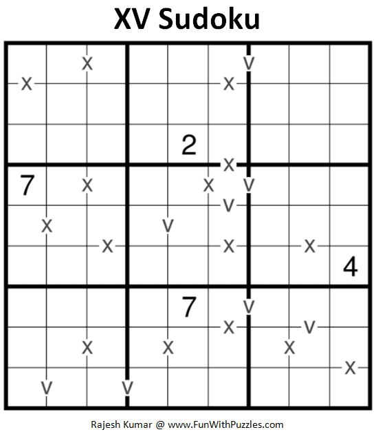 XV Sudoku Puzzle (Fun With Sudoku #303)