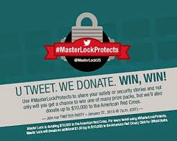 tweet and win with masterlock banner