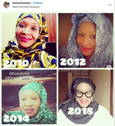 Months After testifying she's born-again, Kemi Olunloyo Converts to Islam (Photos)