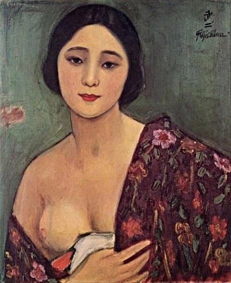 Takeji Fujishima: Modella semi-nuda