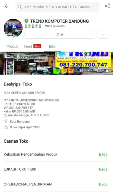 Toko TREND COMPUTER BANDUNG Sebagai Toko Laptop Terlaris di Tokopedia