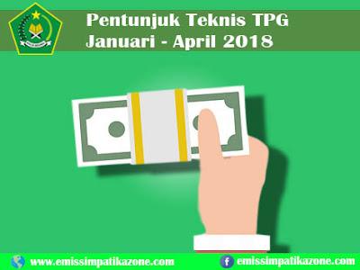 Panduan Teknis Pencairan TPG Periode Januari - April 2018