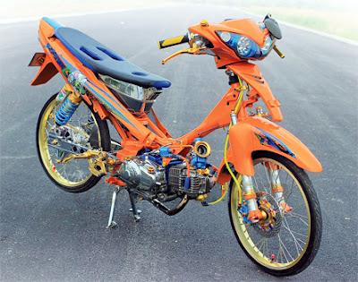 Modifikasi Motor Drag Jupiter Z Pakai Turbo