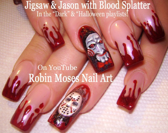 Robin moses nail art bloodwitch halloween nails blood splatter diy halloween nails easy blood splatter nail art design prinsesfo Choice Image