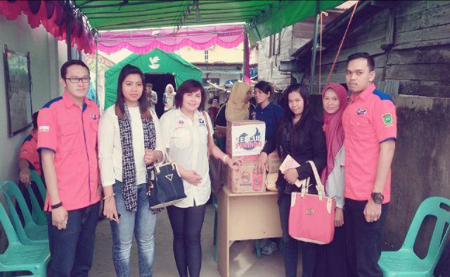 Tim DPW Kartini Perindo Bantu Korban Kebakaran