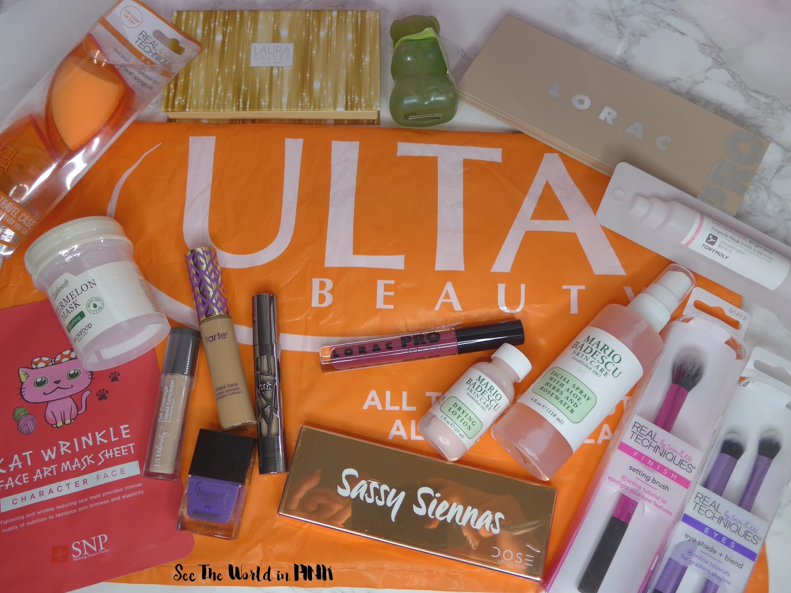 My U S A Shopping Haul Ulta Target Sephora And Naimies See The World In Pink