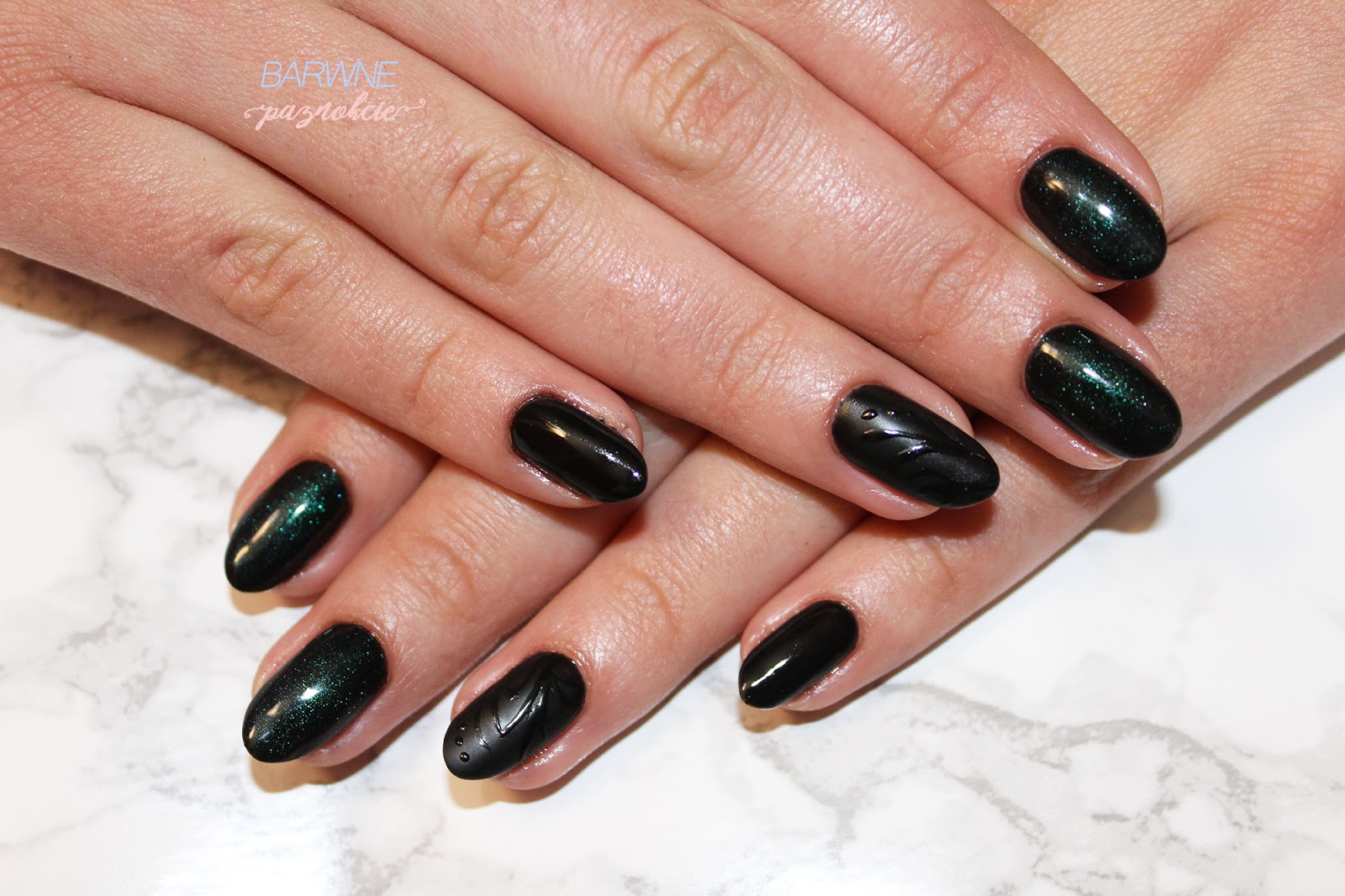 Semilac 031 Black Diamond, Top No Wipe Chameleon 604, Semi Art Black, black nails, semilac, barwne paznokcie, manicure hybrydowy, jesień 2017