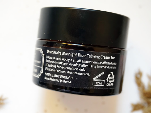 review klairs midnight blue calming cream