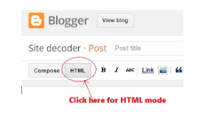 HTML view of blogger