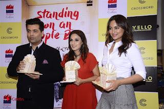 Sonakshi Sinha Karan Johar at Aishwarya Rajinikanth Standing on an Apple Box Book Launch Event  0074.jpg