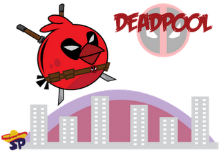 Deadpool Superheroes estilo Angry Birds