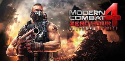 Modern combat 4 Zero Hour Apk+MOD+Data Offline Download