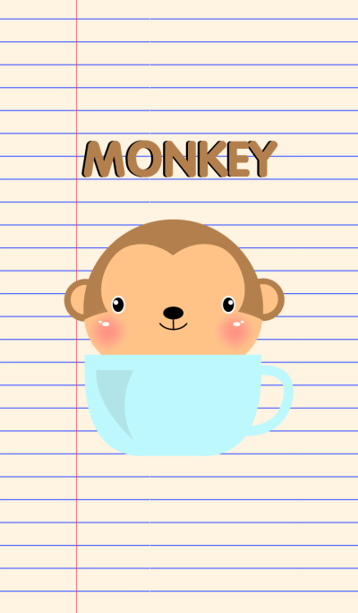 Simple Cute Monkey Theme Vr.2