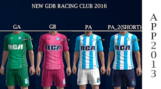 New Kits Racing Club 2016 Pes 2013 By APP2013