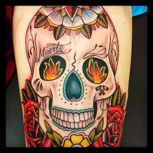 Elephant Sugar Skull Tattoo