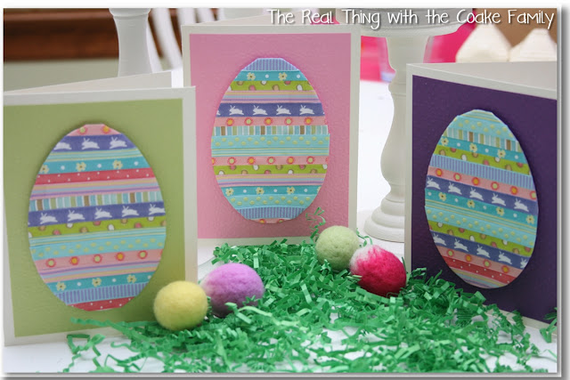 3 finished Easter handmade cards