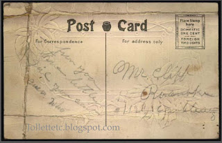 Postcard to George Clift from E. E. Buss http://jollettetc.blogspot.com