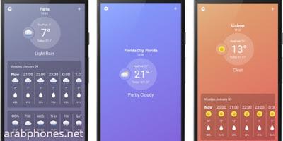 أفضل تطبيق لمعرفة حالة الطقس في بلدك وفي كل مدن العالم UltraWeather