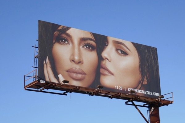 Kim Kardashian x Kylie Jenner Cosmetics 2 billboard
