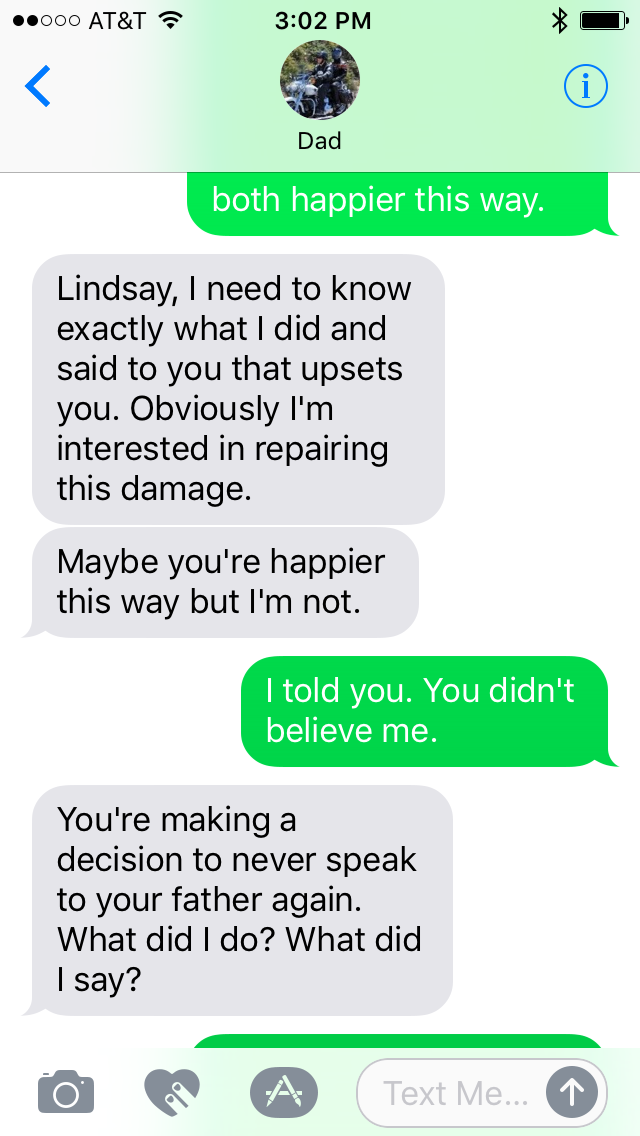 The Snarky Writer: Texts from Dad