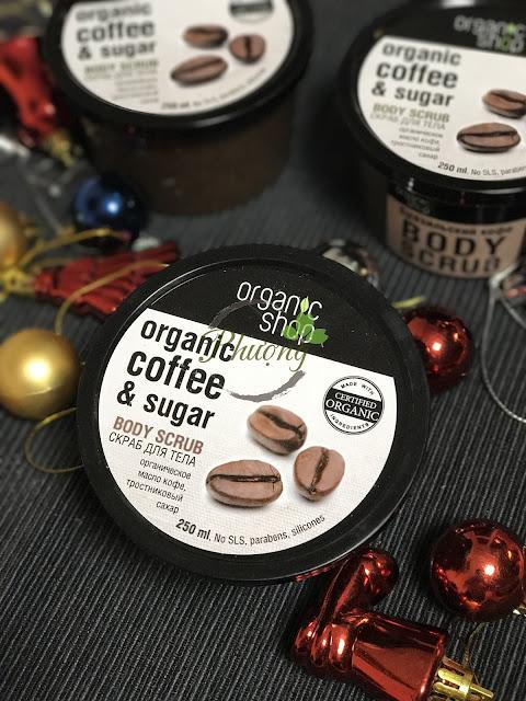 Tẩy da chết chiết xuất cà phê của Organic Shop