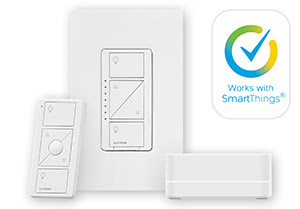 image of Lutron Caseta and Samsung SmartThings