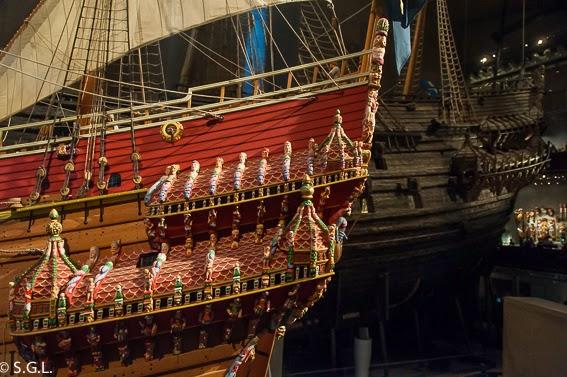 La maqueta y el Vasa, el galeon del S. XVII en Estocolmo