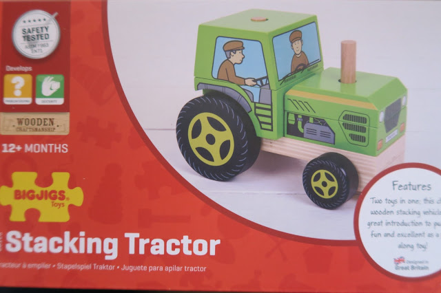 bigjigs wooden craftmenship stacking tractor