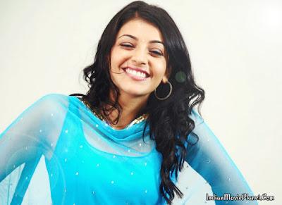 Kajal agarwal latest blue salwar images wallpapers