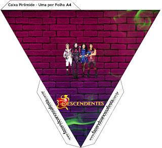 Caja con forma de pirámide de Fiesta de Descencientes.