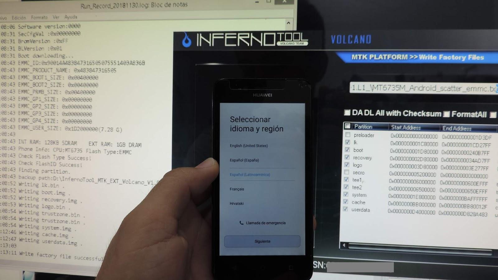 HUAWEI LUA-L03 Revivir y/o Actualizar (ROM / INFERNO BOX / Sp Flash