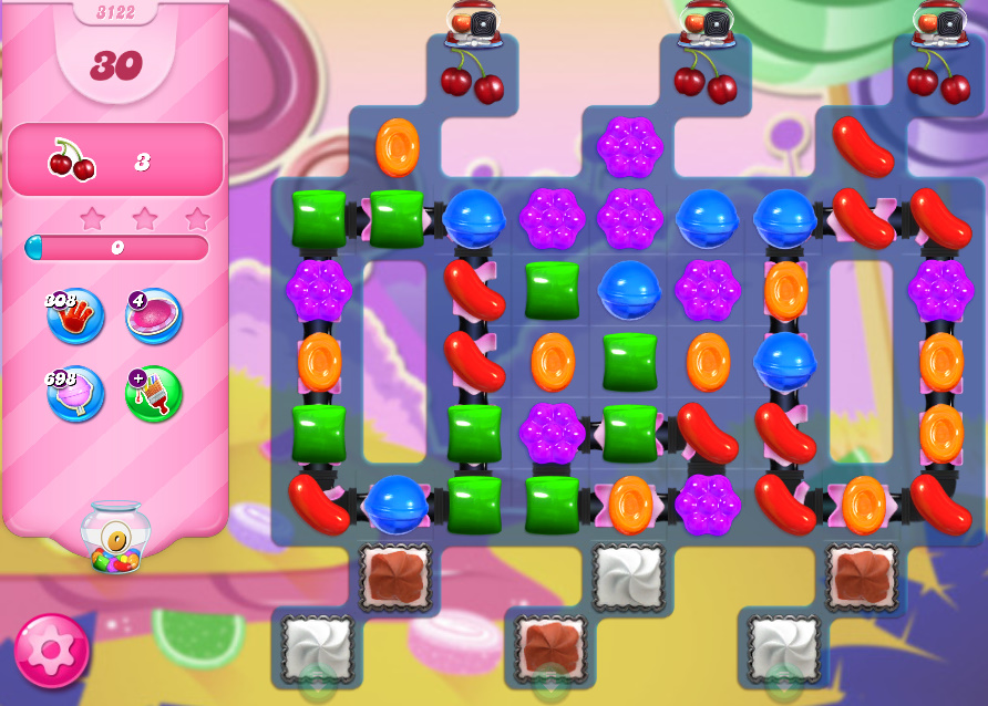 Candy Crush Saga level 3122