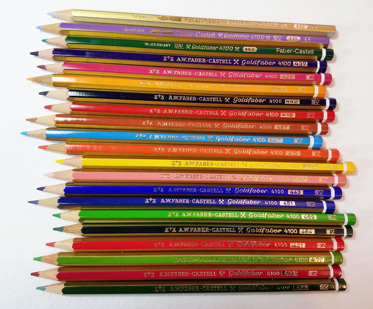fueledclouds  coffee vintage colored pencils faber