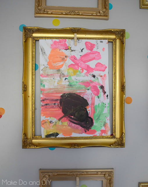 empty frames display kids art