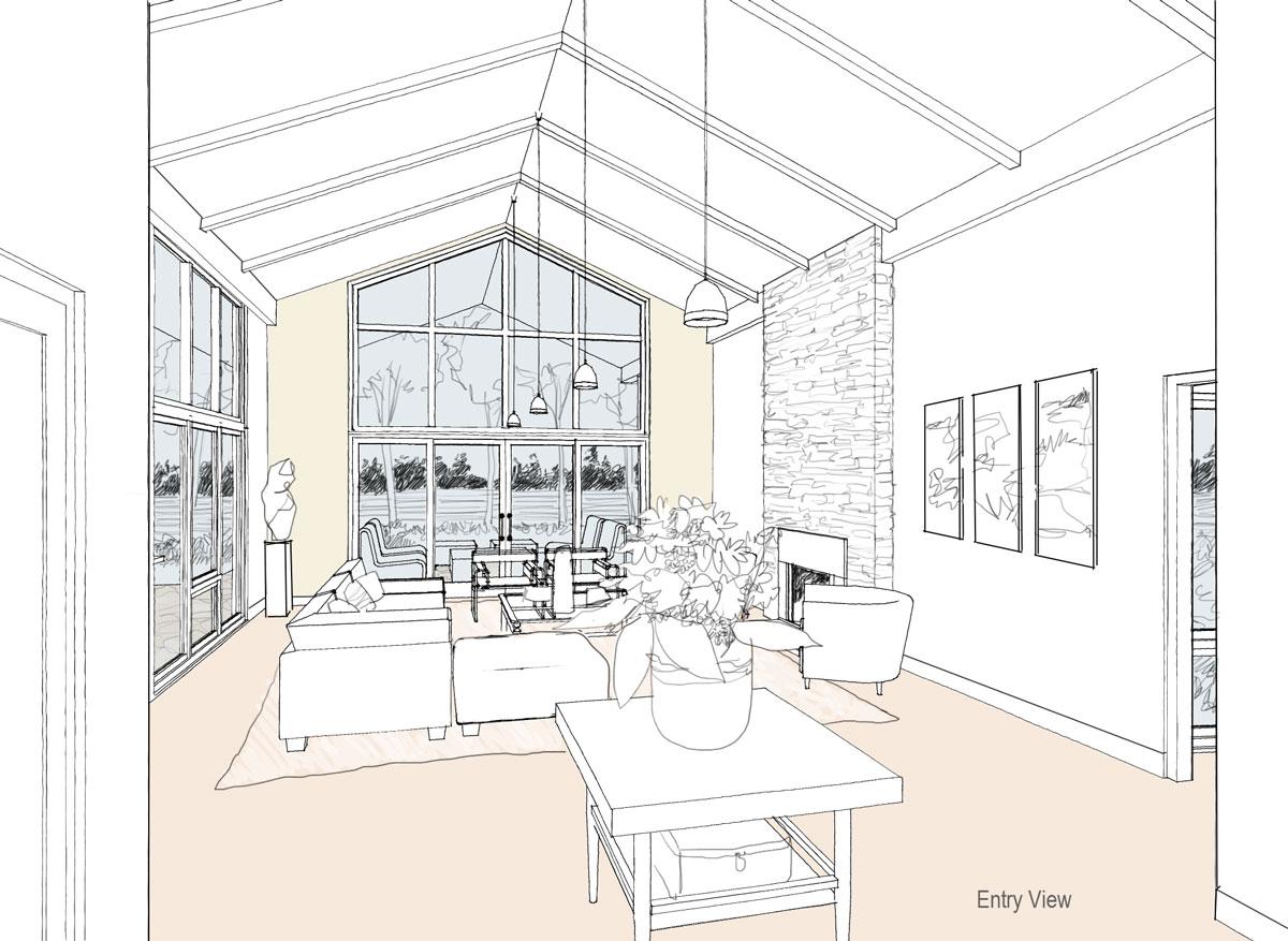 Modern house plan 1 interior views