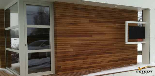 Dřevěná fasáda Techniclic, Vetedy Group