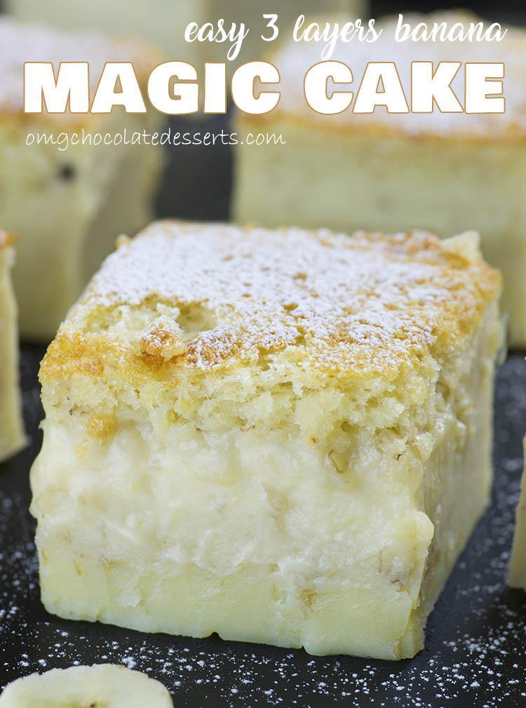 Easy Banana Magic Cake #easyrecipes #banana #bananacake #magic #magiccake #cakerecipes #dessert #dessertrecipes  Desserts, Healthy Food, Easy Recipes, Dinner, Lauch, Delicious, Easy, Holidays Recipe, Special Diet, World Cuisine, Cake, Grill, Appetizers, Healthy Recipes, Drinks, Cooking Method, Italian Recipes, Meat, Vegan Recipes, Cookies, Pasta Recipes, Fruit, Salad, Soup Appetizers, Non Alcoholic Drinks, Meal Planning, Vegetables, Soup, Pastry, Chocolate, Dairy, Alcoholic Drinks, Bulgur Salad, Baking, Snacks, Beef Recipes, Meat Appetizers, Mexican Recipes, Bread, Asian Recipes, Seafood Appetizers, Muffins, Breakfast And Brunch, Condiments, Cupcakes, Cheese, Chicken Recipes, Pie, Coffee, No Bake Desserts, Healthy Snacks, Seafood, Grain, Lunches Dinners, Mexican, Quick Bread, Liquor